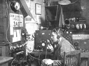 Ham radio station in Philadelphia, 1923